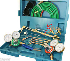 ACETYLENE & OXYGEN WELDING CUTTING OUTFIT TORCH SET GAS WELDER KIT w/15FT HOSES