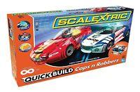 Scalextric Quick Build Cops 'n' Robbers 1:32 Scale Slot Car Race Set C1323t