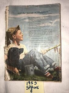 Vtg-1953-Sears-Catalog-Spring-Summer-Musty-Front-Cover-Not-Intact-Boy-Dog-Fishin