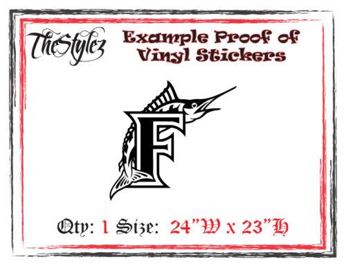 Florida Marlins Baseball Vinyl Wall Sticker