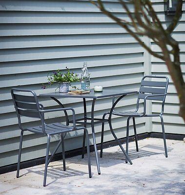 Dean Street Square Garden Bistro Funriture Set in Charcoal by Garden Trading
