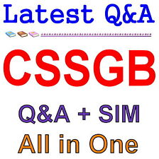 ASQ Certified Six Sigma Green Belt CSSGB Exam Q&A PDF+SIM
