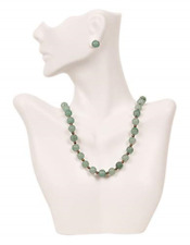Caddy Bay Collection Necklace And Earring Bust Jewelry Display White