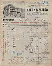 BERLIN, Rechnung 1905, Knaben-Garderoben Martin & Flatow
