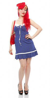 Flirt Skirt Polka Dot Play Dress - Patriotic, Yankee Doodle, Rockabilly Cute