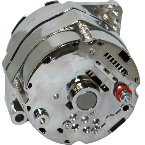 200AMP ALTERNATOR Fits FORD FALCON MUSTANG HOTROD CHROME CHEVY GMC 1-WIRE