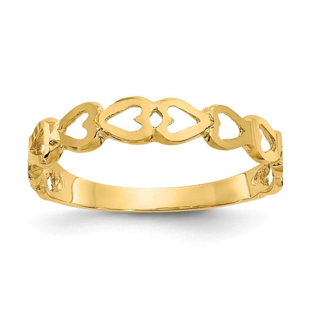 Genuine 14k Yellow gold Heart Ring  0.94 gr