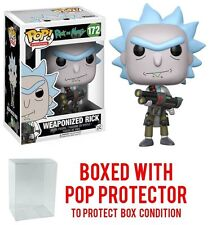 Funko Pop A. Rick and Morty Weaponized Rick 172 12439 PROTECTOR CASE