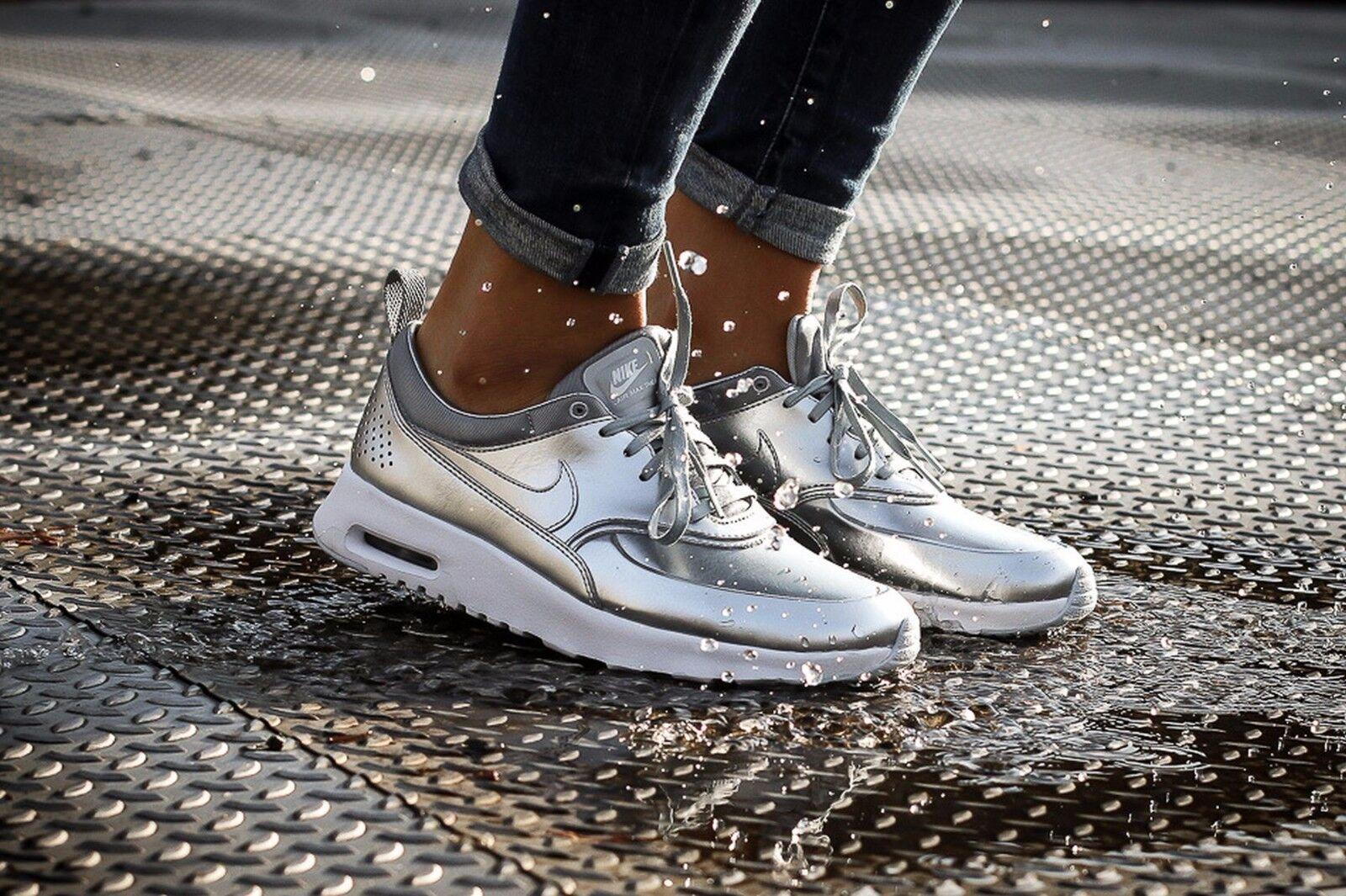Nike Air Max Thea Metallic Wmn Sz 7.5 819640-001 Metallic Silver Metallic Silver