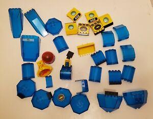 Lego-Bulk-Lot-Dark-Translucent-Blue-Windows-Pieces-Underwater-Sea-Submarine