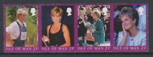 Ile-de-Man-1998-Diana-Princesse-Du-Pays-Galles-Ensemble-MNH-Sg-813-16-B