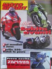 MOTOSPRINT n°8 2001  Test Yamaha FJR 1300 - Rossi Biaggi Capirossi   [P72]