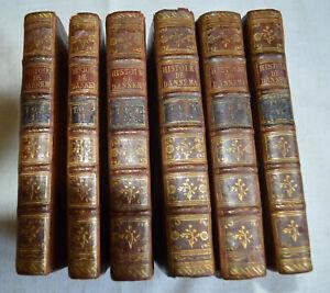1766-Histoire-du-Danemarc-Par-Mr-Mallet-6-Tomes-complet-plein-cuir-BE