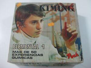 VINTAGE-1973-JUEGO-DE-QUIMICA-KIMING-ELEMENTAL-1-JUGUETES-POCH-ESPANA-OLD-STOCK