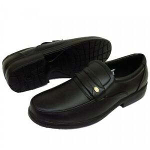 Mens Black OR Brown Smart Formal Wedding Slip On Faux Leather Shoes sizes 7-12