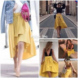 1c8ae06a1747 NWT ZARA SS17 Mustard Yellow Midi Skirt With Sleeve Detail ...