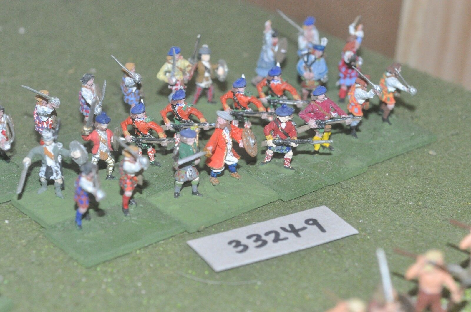 25mm ECW   scottish - montpink 24 figures - inf (33249)