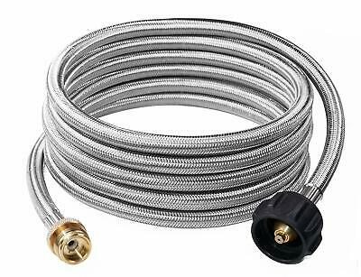 Safety Certified DOZYANT 4 Feet Propane Adapter Hose 1 lb to 20 lb Converter Replacement for QCC1 Type1 Tank Connects 1 LB Bulk Portable Appliance to 20 lb Propane Tank