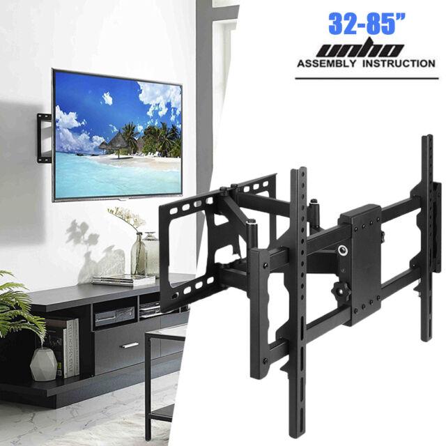 """32-85/"""" Full Motion TV Wall Mount Articulating Tilt Bracket Swivel 180° and 360°"""