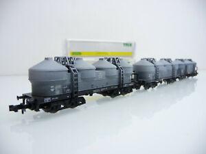 Minitrix-N-1-160-15193-3-teiliger-Staubgutwagen-Zug-Gattung-KKds-55-gealter