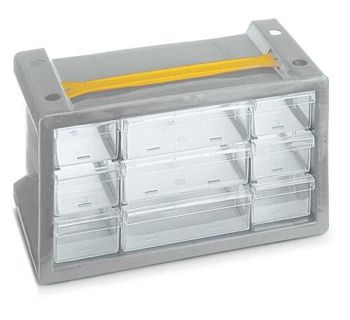 Kleinteilemagazin mit Schubladen zum Aufhängen Sortierkasten Werkstatt Poker