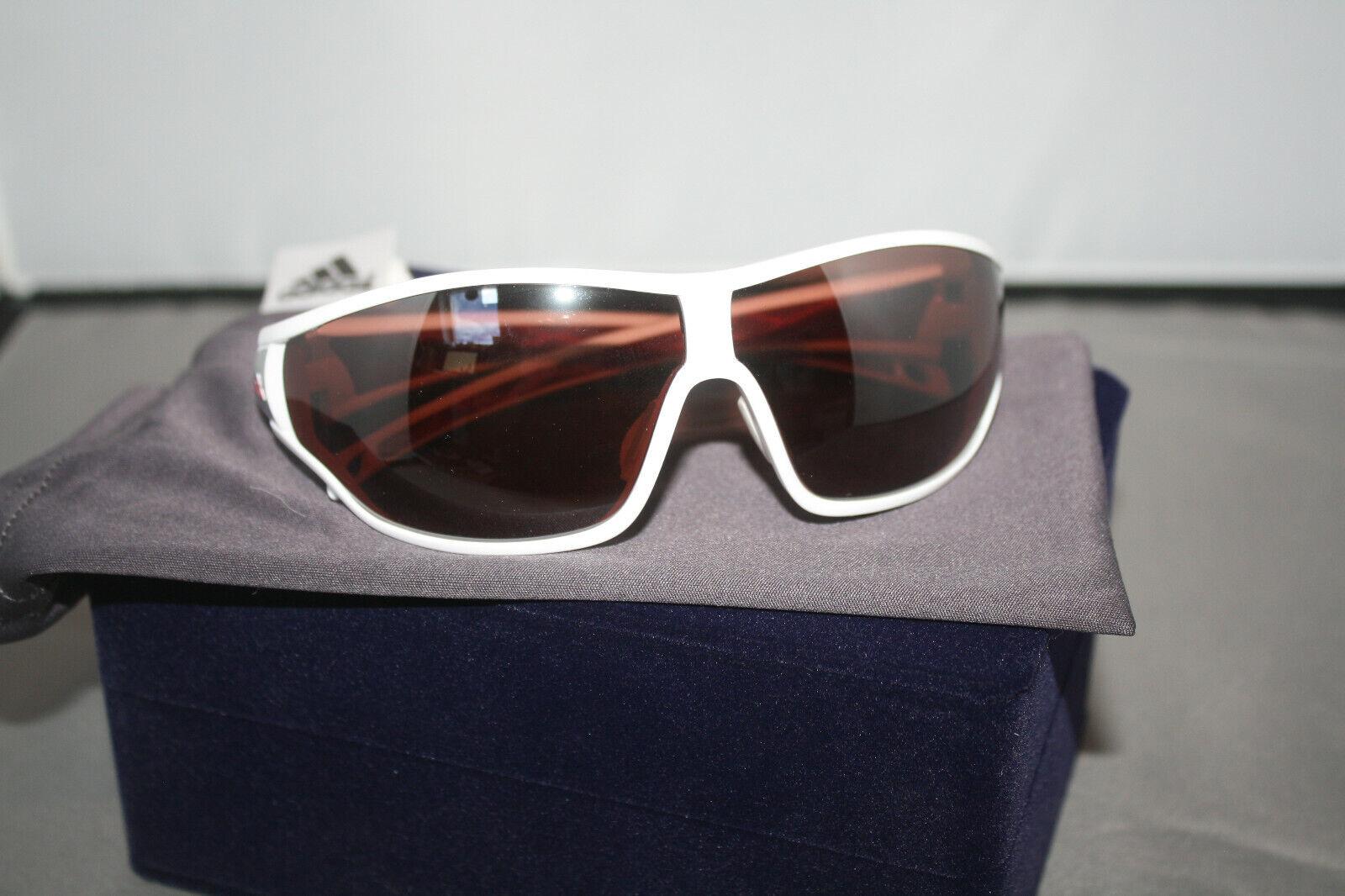 ADIDAS Sonnenbrille Sportbrille a190 00 6052 69-6 125 tycane pro S weiß rot NEU