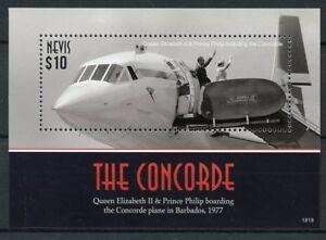 Consciencieux Nevis 2018 Neuf Sans Charnière Concorde Queen Elizabeth Ii 1 V S/s Royalty Aviation Timbres Dans La Douleur
