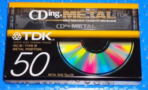 SEALED TDK  CDing METAL    50   TAPE