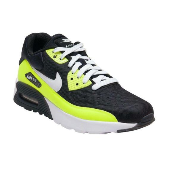 2222df66b2bc3 Nike Air Max 90 Ultra SE (gs) Boys Girls Running Shoes Volt Size 5y ...