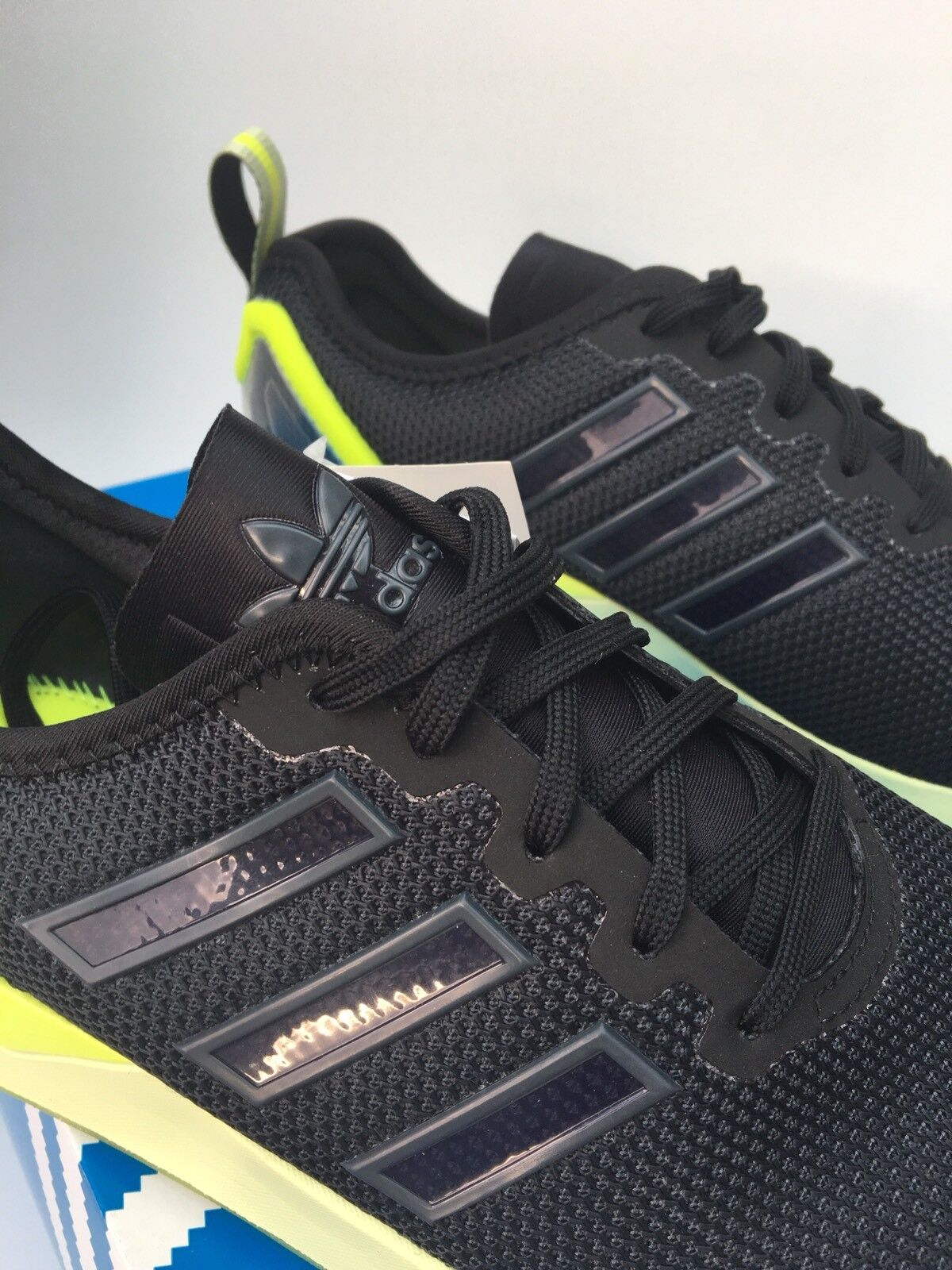 adidas ZX ADV Flux ADV ZX Trainers Sneakers AQ49068.5 Brand New In Box Noir Halo 286d10