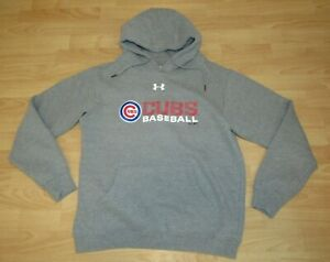 performance sportswear order new release Details about Under Armour Chicago Cubs UA Gray Hoodie Jacket size Men's  Medium