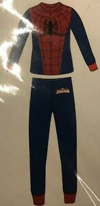 Ultimate Spider-Man Boys Thermal Underwear Marvel Comics Brand Size 14-16 WHITE