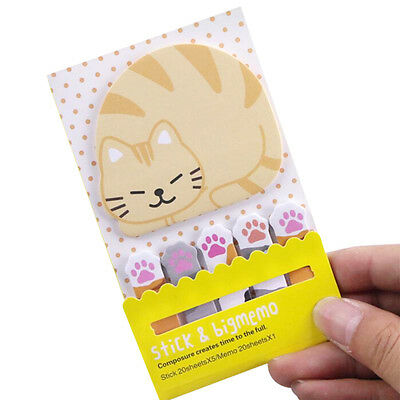 Cat Pandas Cute Kawaii Memo Sticky Notes Planners Stickers Paper Bookmark J&C