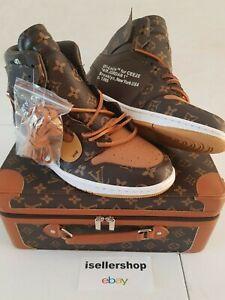 60776da013ec55 🔥 Nike Air Jordan 1 Retro High Off-White Custom Made BRAND NEW Size ...