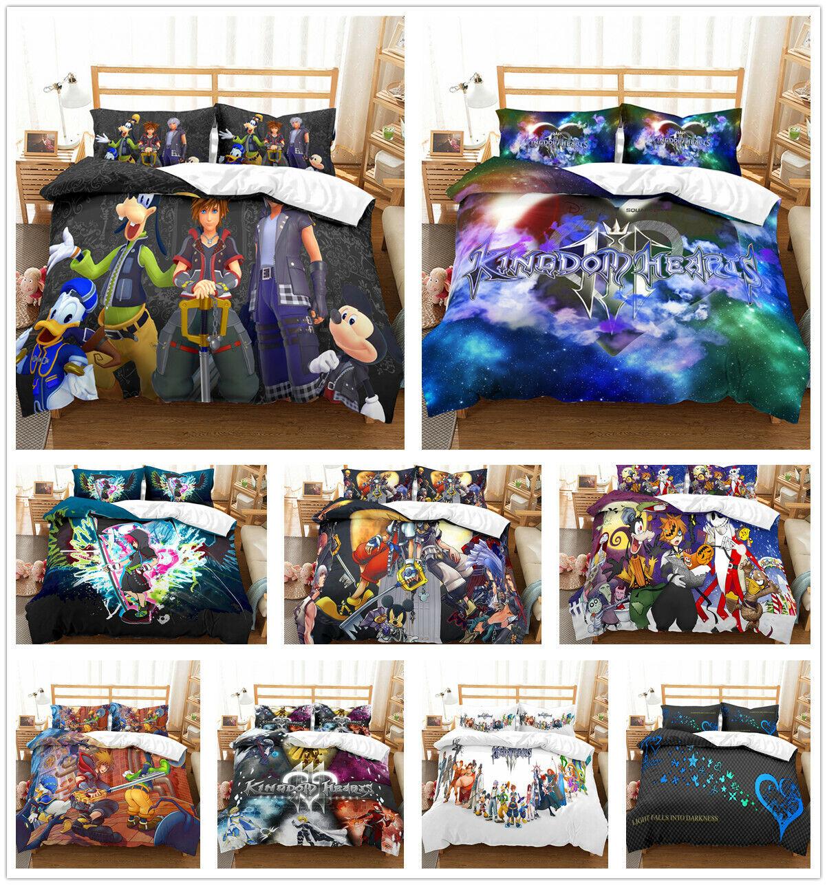 3D Kingdom Hearts Dream Eater Duvet Cover Bedding Set Pillowcase Comforter Cover