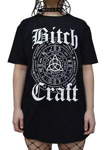 Luna-Cult-Bitch-Craft-T-Shirt-Gothique-Occult-tuer-sorcellerie-symbole-etoile-satanique