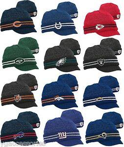 NWT NFL Reebok 2011 Player Sideline 2nd Season Cuffed Visor Knit Hat ... 682e2e2ae4a9
