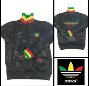 querido soborno vestir  Adidas Rasta Jamaica Chile 62 Rare Retro Vintage Track Jacket S/ Bob Marley  | eBay