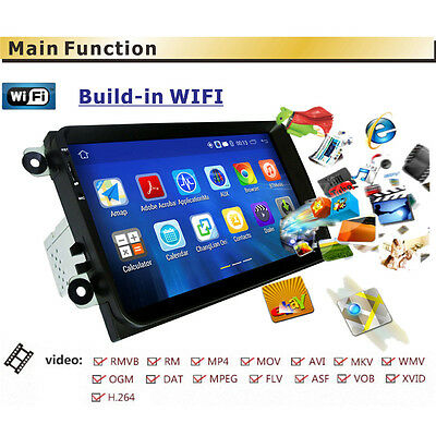 """9"""" Android 5.1 Car DVD Player Radio GPS Stereo 2DIN for VW Passat Golf MK5 Jetta"""