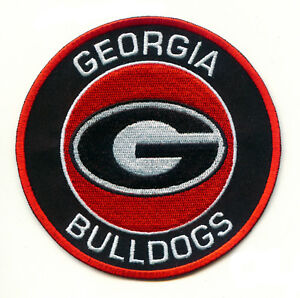 4 University Of Georgia Bulldogs Uga Round G Team Logo Iron On
