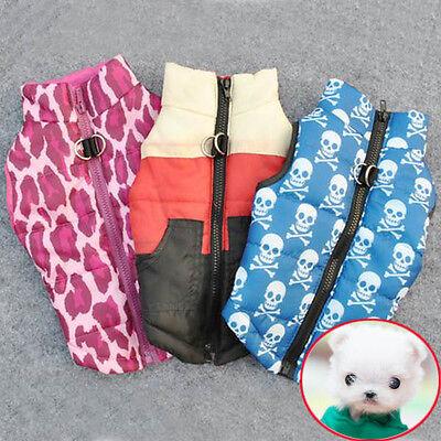 Hot Pet Cat Dog Clothing Soft Padded Vest Harness Puppy Warm Coat Jacket Clothes