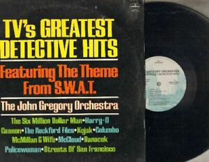 Gregory-John-TV-039-s-Greatest-Detective-Hits-Mercury-1089-Promo-Vinyl-LP-Record