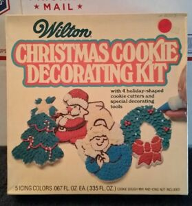 Christmas Cookie Decorating Kit.Details About Vintage 1978 Pillsbury Wilton Christmas Cookie Decorating Kit New
