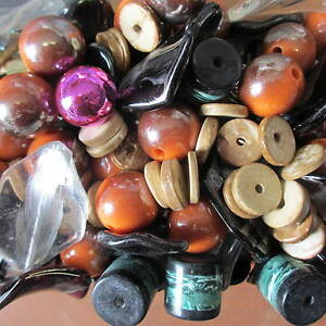 Wholesale-Job-Lot-500-Gram-Of-Mixed-Chunky-Beads-Spacer-Beads-Jewellery-Making