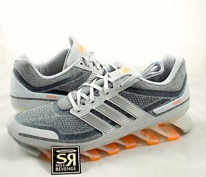 nuova 12 adidas springblade scarpa da corsa, grigio argento primavera lama