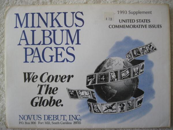 1993 Minkus Album Timbres Supplément États-unis Commemorative Issues