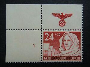 Germany Nazi 1940 Stamp MNH Woman wearing scarf Swastika Eagle Generalgouverneme