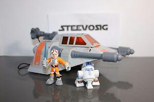 Star Wars Galactic Heroes Hoth Snowspeeder W/ Luke Skywalker & R2D2