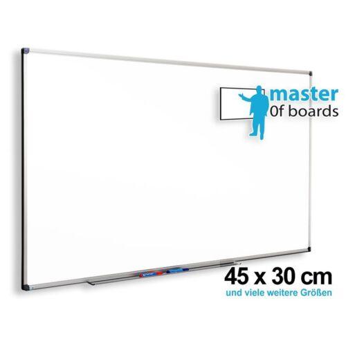 MoB Whiteboard Schreibtafel Magnettafel Wandtafel Größe 45x30cm Zubehör