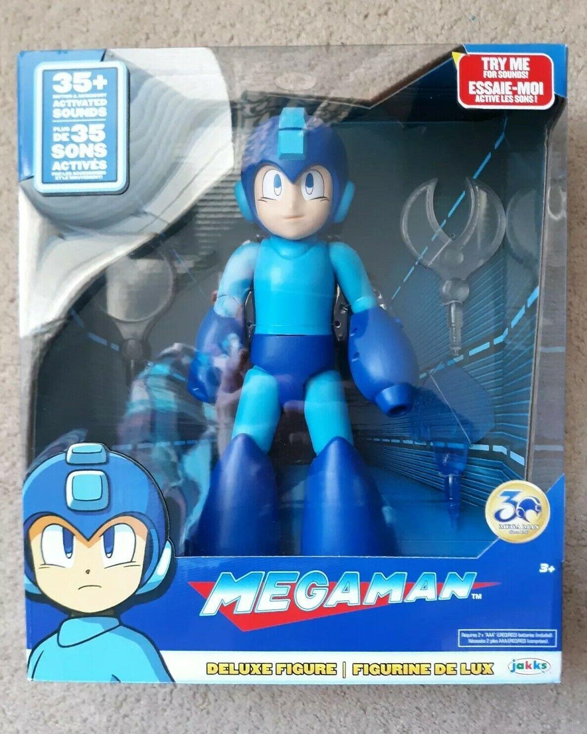 Mega Man Deluxe 12 Inches Action Figure w  35+ Sounds & Lights JAKKS NEW Sealed